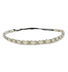 Mia® Leather Chain Headband - white leather and silver chain - #MiaKaminski #Mia #MiaBeauty #Beauty #Hair #HairAccessories #headbands #headwraps #lovethis #love #life #woman #headbandchain #Chanel