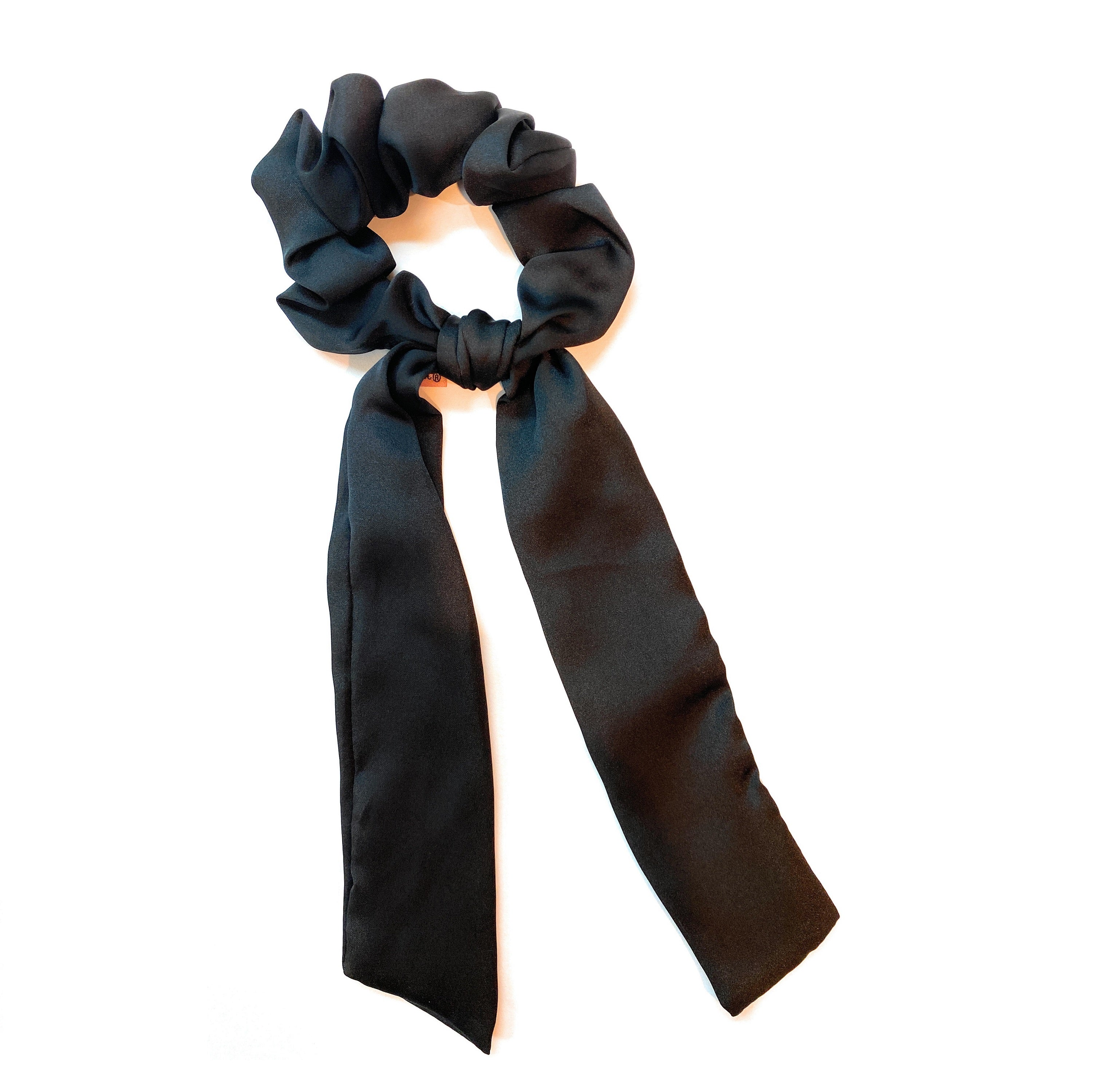 Mia Beauty Scrunchie with hanging ties black chiffon