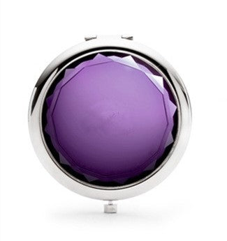 Mia® Jeweled Compact Mirror - purple color rhinestone - invented by #MiaKaminski #MiaBeauty #Mia #beauty #Mirrors #CompactMirror #TravelMirror #purseMirror #Pretty #love #mothersday #lovethis #love #life #woman