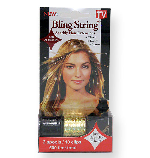 Bling String® - Hologram Gold + Black