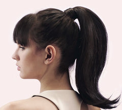 Mia® Poofy Pony Hair + Ponytail Volumizing Tool in model's hair - invented by #MiaKaminski of #MiaBeauty #Mia #beauty #hair #hairstylingtool #volumizingtool #lovethistool #love #life #woman #lovethis #ponytailvolumizingtool