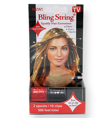 Bling String® - 500' w/Clips - Hologram Red and Black