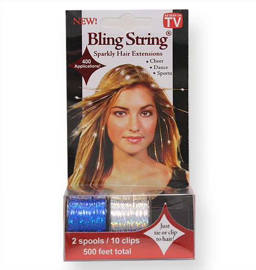 Bling String® - Hologram Blue + Silver