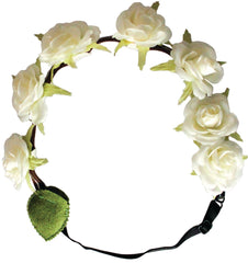 Mia® Flower Halo Headband - white roses - by #MiaKaminski #Mia #MiaBeauty #Beauty #Hair #HairAccessories #headbands #lovethis #love #life #woman #flowerhalo