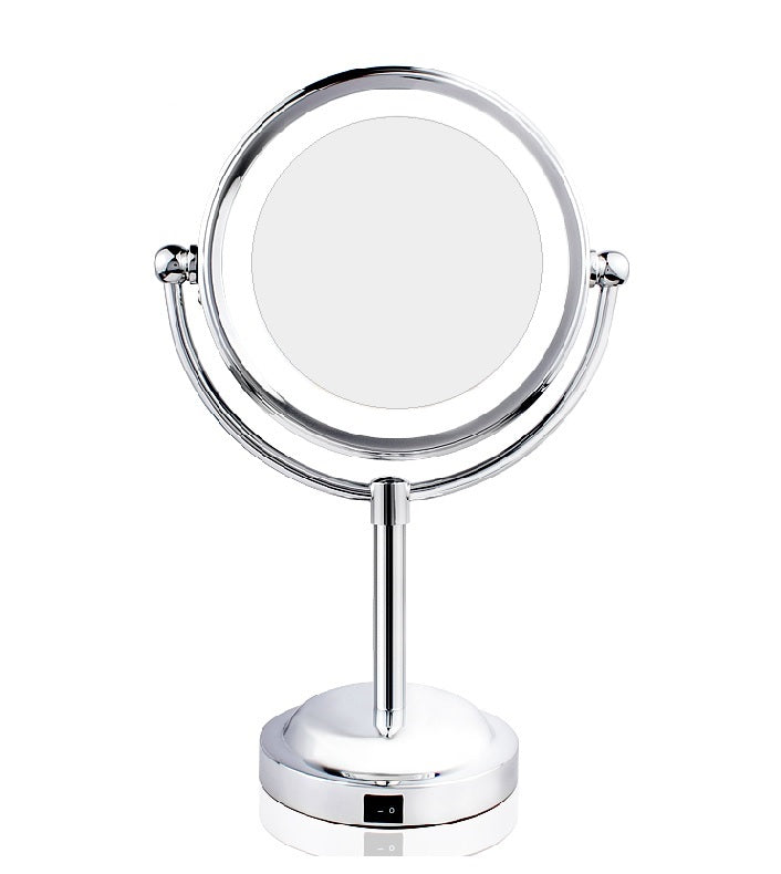 Mia®10x/1x Cordless LED Lighted Vanity Mirror Chrome by #MiaKaminski of Mia Beauty