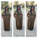 Olive and Black 3/4 Sleeve Maxi