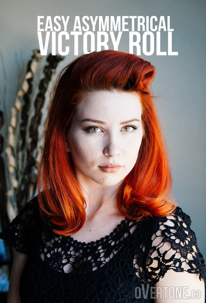 Easy Asymmetrical Victory Roll Overtone Haircare
