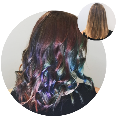 oil slick with overtone