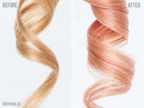How To Get Rose Gold Hair With Overtone Overtone Haircare