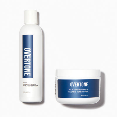 oVertone Blue For Brown Hair Coloring Conditioner and Daily Conditioner