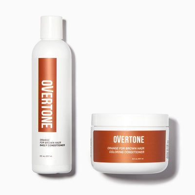 oVertone Orange For Brown Hair Coloring Conditioner and Daily Conditioner