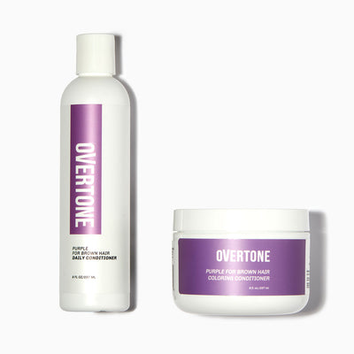 oVertone Purple for Brown Hair Coloring Conditioner and Daily Conditioner