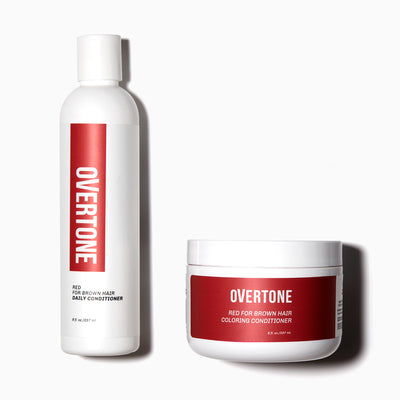oVertone Red for Brown Coloring Conditioner and Daily Conditioner