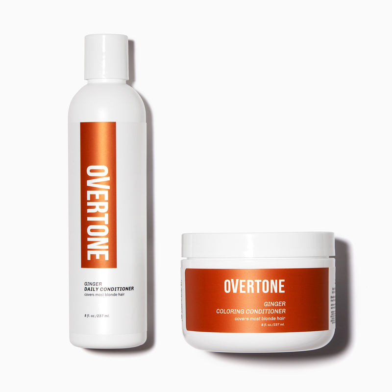 oVertone Ginger Coloring Conditioner and Daily Conditioner