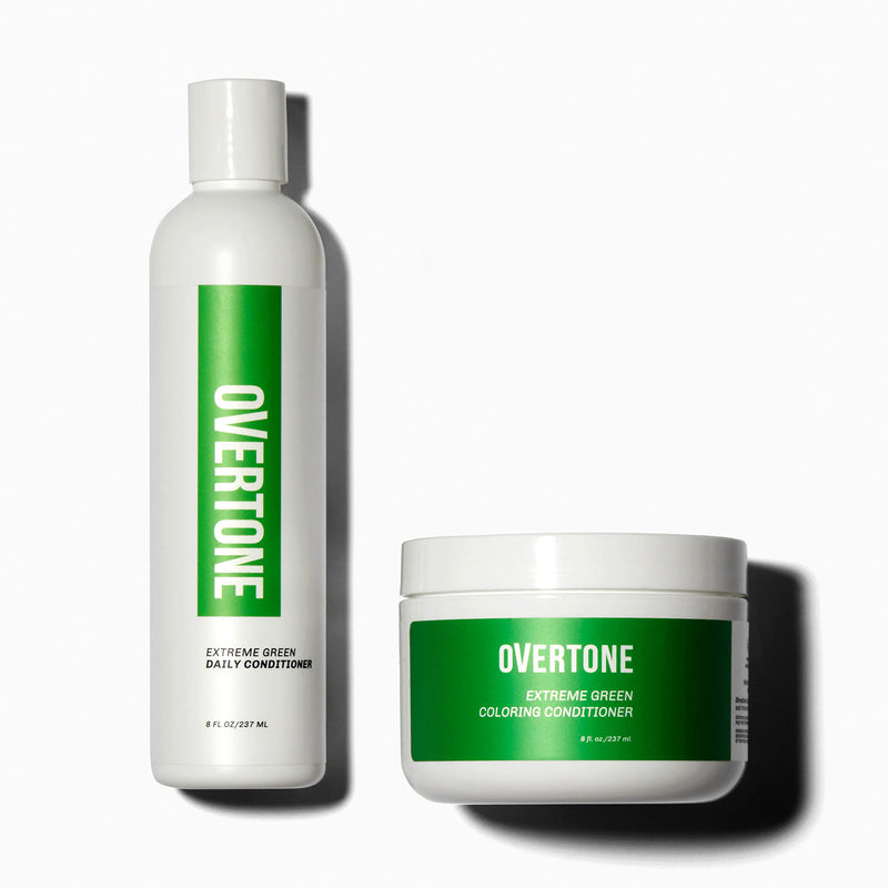 oVertone Extreme Green Coloring Conditioner and Daily Conditioner