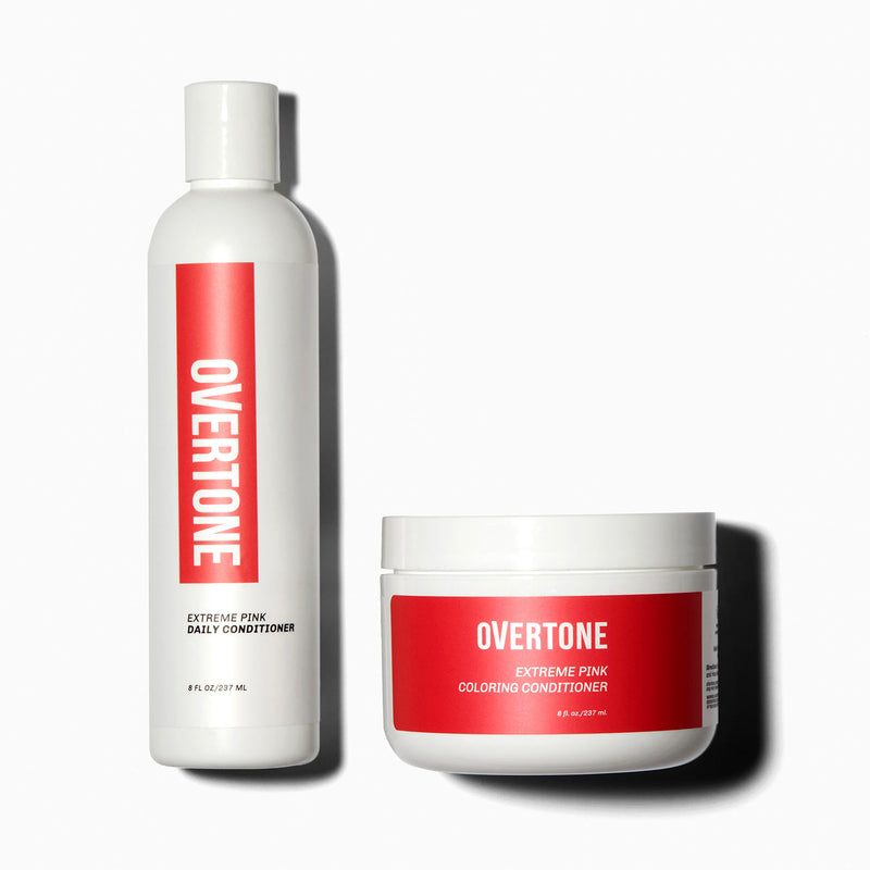 oVertone Extreme Pink Coloring Conditioner and Daily Conditioner