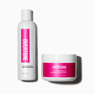 oVertone Extreme Magenta Coloring Conditioner and Daily Conditioner