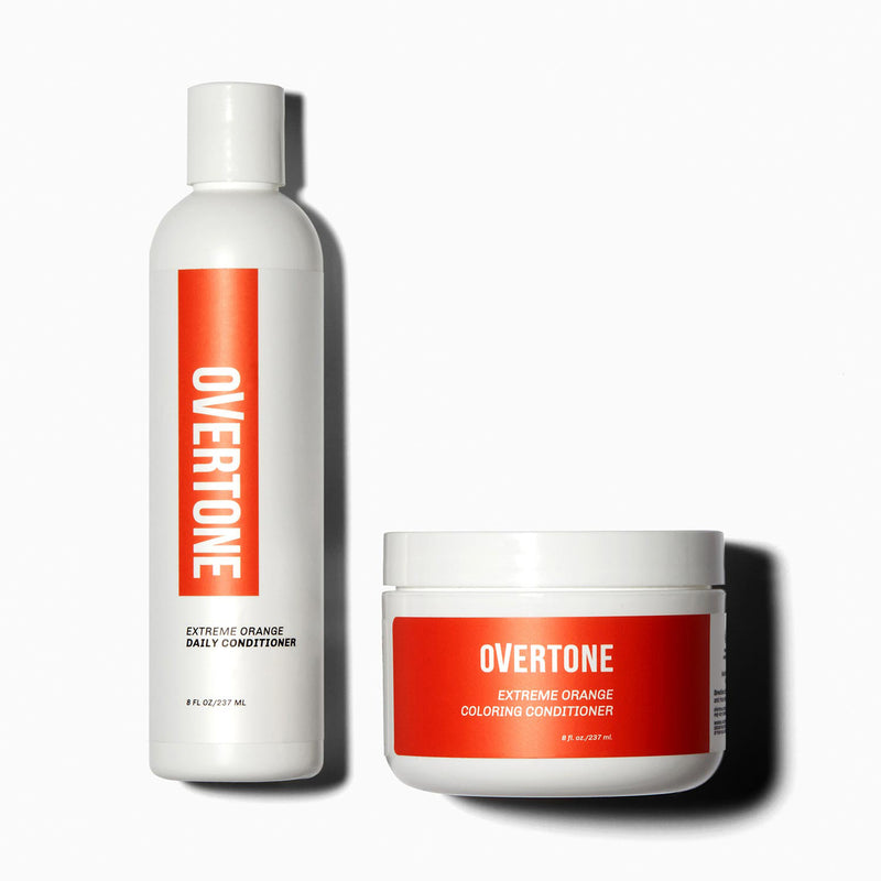 oVertone Extreme Orange Coloring Conditioner and Daily Conditioner