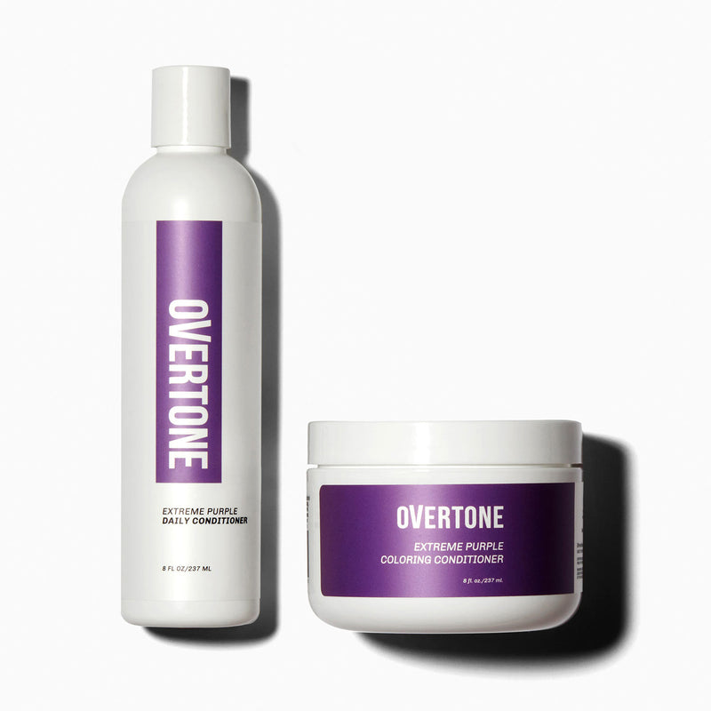 oVertone Extreme Purple Hair Coloring Conditioner and Daily Conditioner