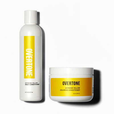 oVertone Extreme Yellow Healthy Coloring Conditioner and Daily Conditioner