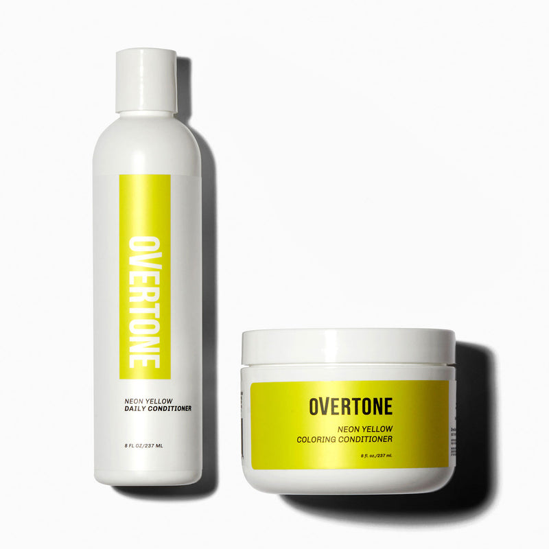 oVertone Neon Yellow Coloring Conditioner and Daily Conditioner