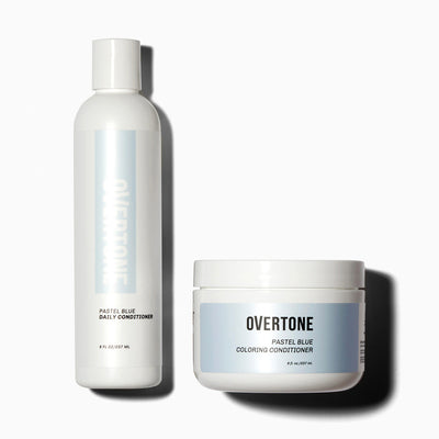 oVertone Pastel Blue Coloring Conditioner and Daily Conditioner