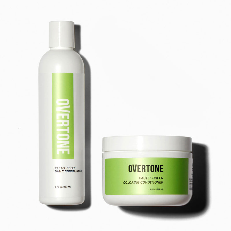 oVertone Pastel Green Coloring Conditioner and Daily Conditioner