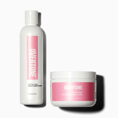 oVertone Pastel Pink Coloring Conditioner and Daily Conditioner