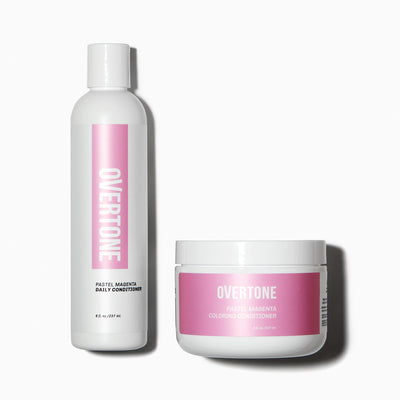 oVertone Pastel Magenta Coloring Conditioner and Daily Conditioner