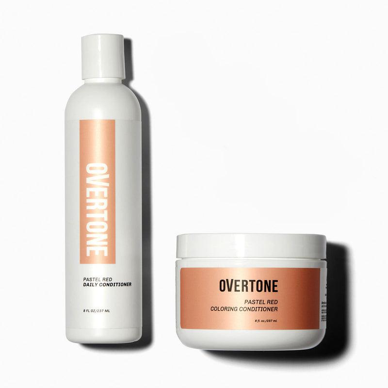 oVertone Pastel Red Coloring Conditioner and Daily Conditioner