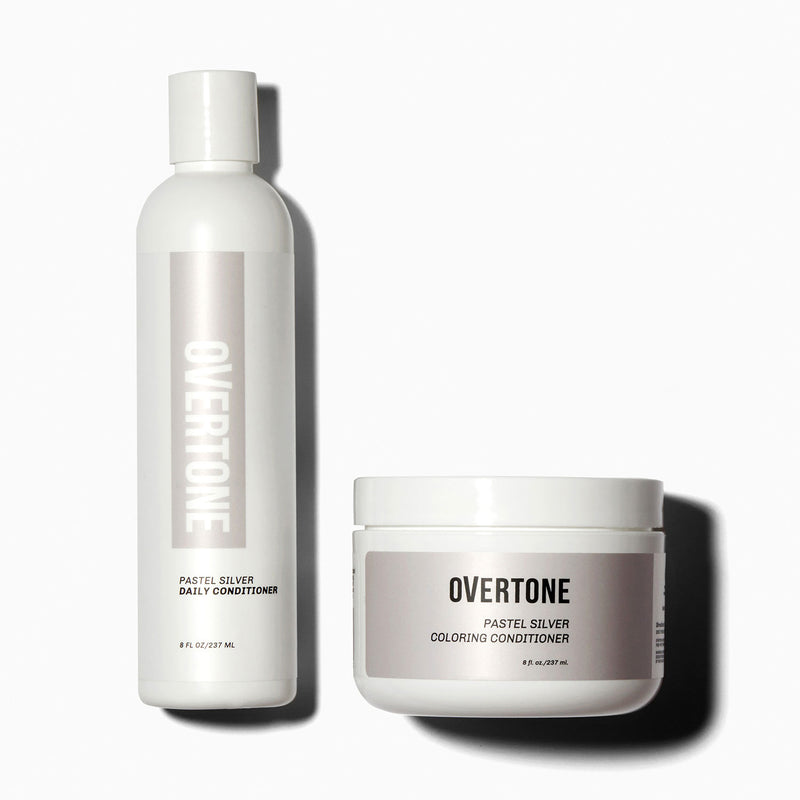 oVertone Pastel Silver Coloring Conditioner and Daily Conditioner