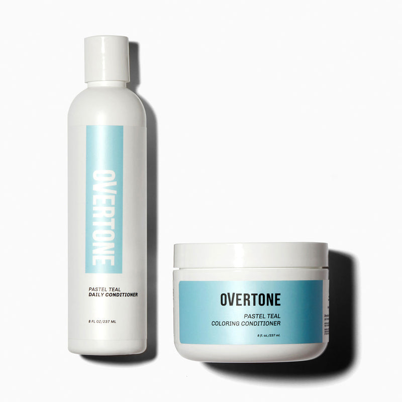 oVertone Pastel Teal Coloring Conditioner and Daily Conditioner