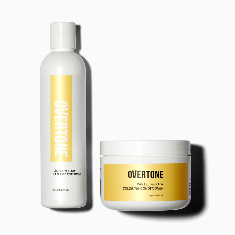 oVertone Pastel Yellow Coloring Conditioner and Daily Conditioner