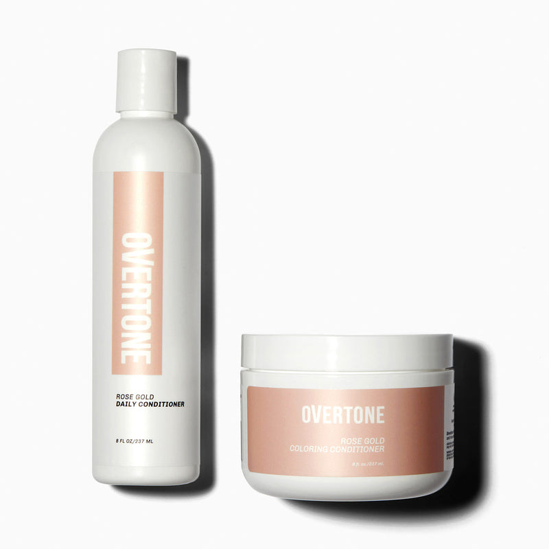 oVertone Original Rose Gold Coloring Conditioner and Daily Conditioner