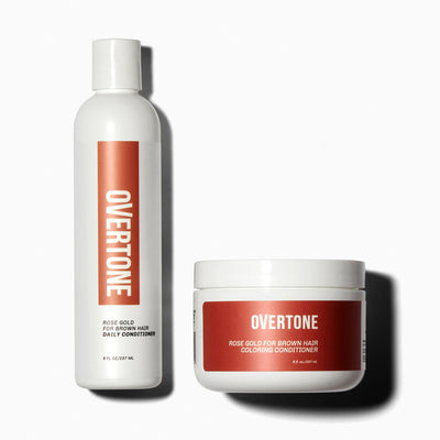 oVertone Rose Gold for Brown Hair Coloring Conditioner and Daily Conditioner