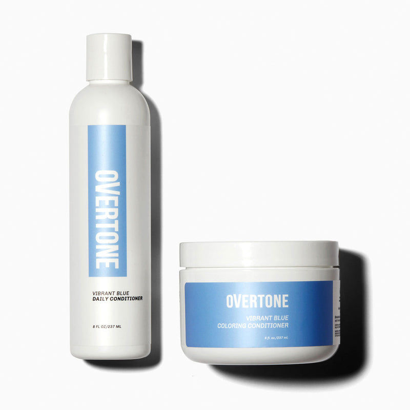 oVertone Extreme Blue Hair Coloring Conditioner and Daily Conditioner