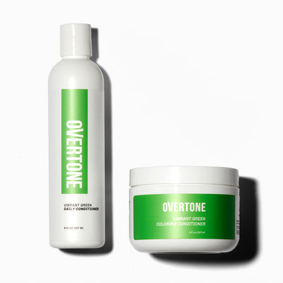 oVertone Vibrant Green Coloring Conditioner and Daily Conditioner