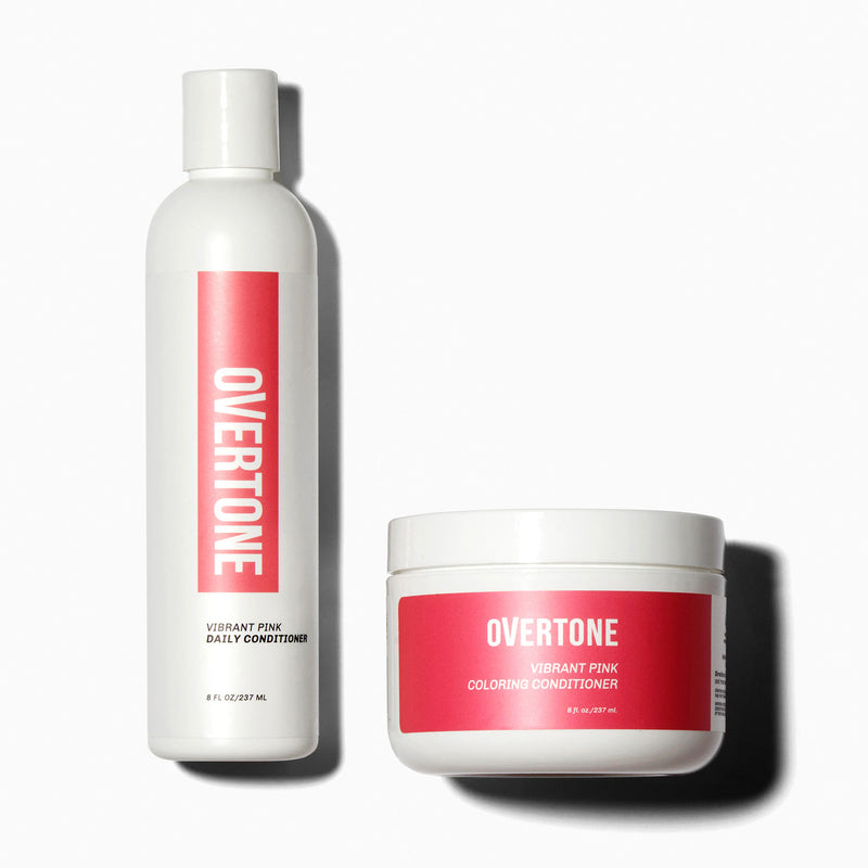 oVertone Vibrant Pink Coloring Conditioner and Daily Condtioner