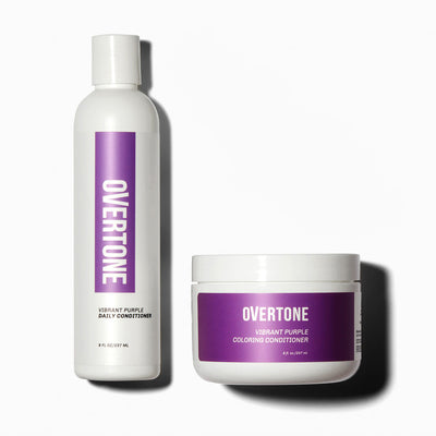 oVertone Vibrant Purple Hair Coloring Conditioner and Daily Conditioner