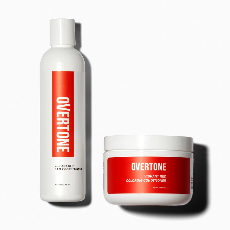 oVertone Vibrant Red Coloring Conditioner and Daily Conditioner