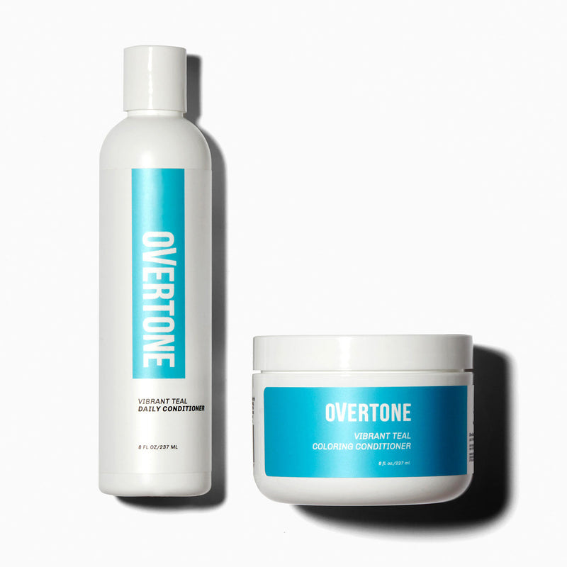 oVertone Vibrant Teal Coloring Conditioner and Daily Conditioner