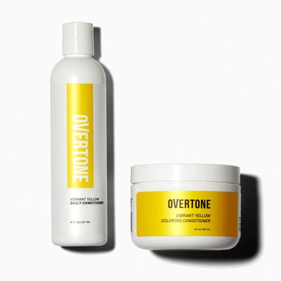 oVertone Vibrant Yellow Coloring Conditioner and Daily Conditioner