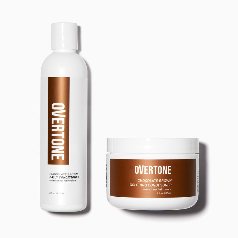 oVertone Chocolate Brown Coloring Conditioner and Daily Conditioner