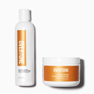 oVertone Golden Brown Coloring Conditioner and Daily Conditioner