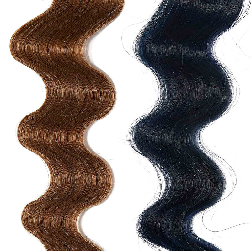 deep blue hair color for brown on light brown hair