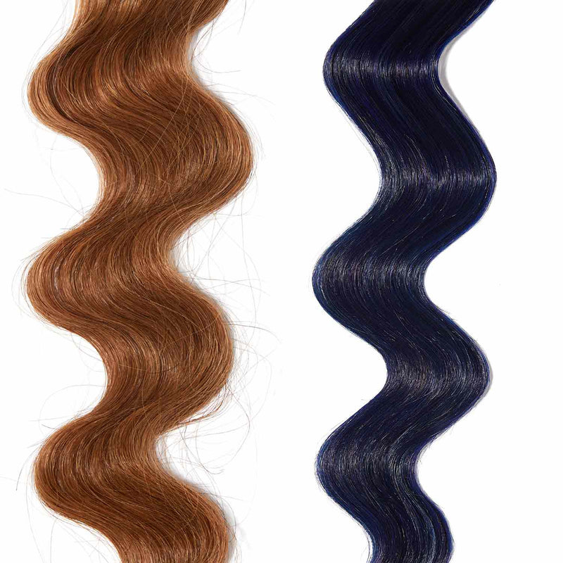 deep blue hair color for brown on red hair
