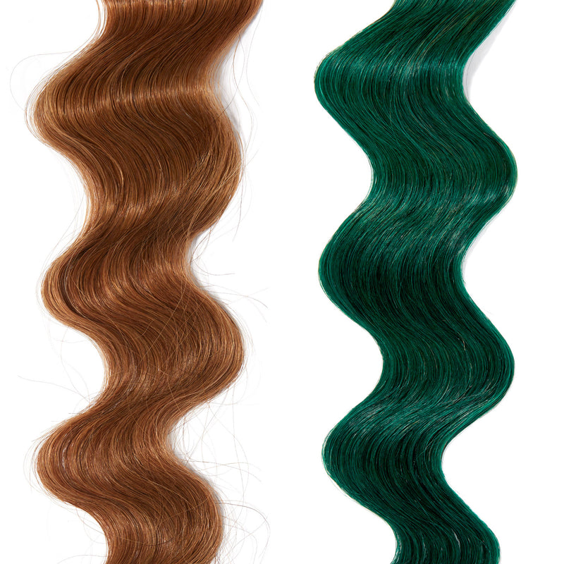 forest green hair color on red hair