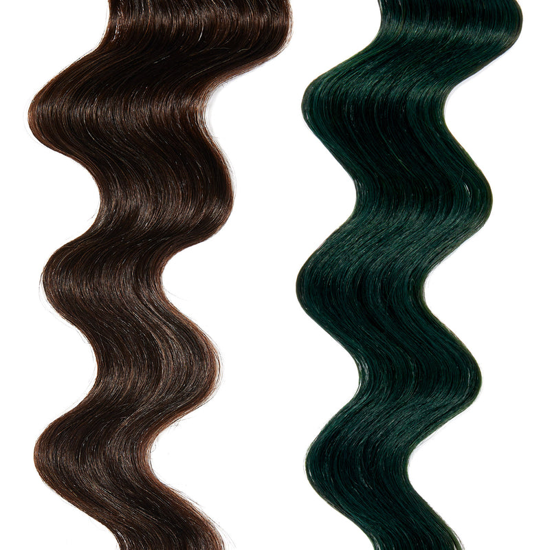 forest green hair color on dark brown hair