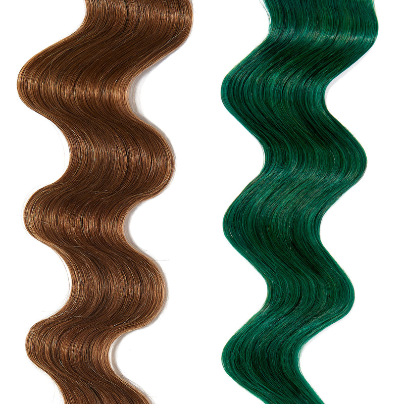 forest green hair color on light brown hair