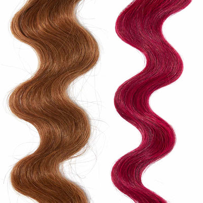 dark pink hair color for brown on red hair